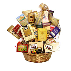 Gourmet Delight Gift Basket - Flowers