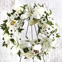 Peace Funeral Wreath - Flowers
