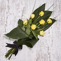 Yellow Condolences Sheaf - Flowers