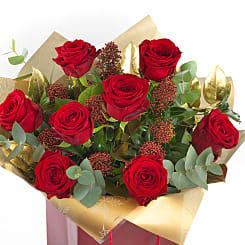Christmas Red Roses - Flowers