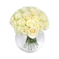 Mass of White Roses - Flowers