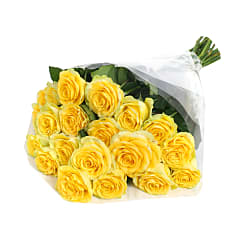 20 Luxury Yellow Roses - Flowers