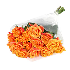 20 Luxury Orange Roses - Flowers