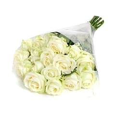 20 Luxury White Roses - Flowers
