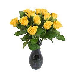 A Dozen Yellow Roses Giftwrap - Flowers