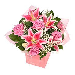 Luxury pink giftbag - Flowers