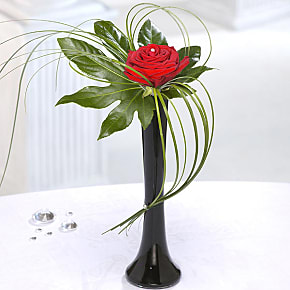 Flower bouquet Single Red Rose