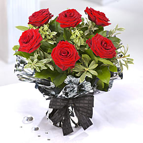 Flower bouquet 6 Red Roses