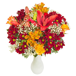 Flower bouquet Mrs Claus