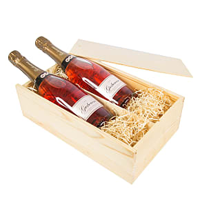 Gift delivery Rose English Sparkling Wine Duo