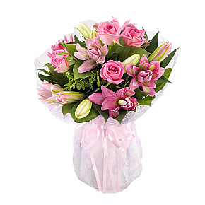 Flower bouquet Lavish Rose and Lily