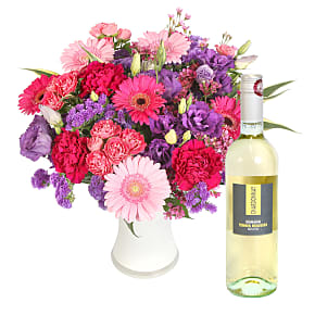 Flower bouquet Mrs Tracy Klein with White Wine