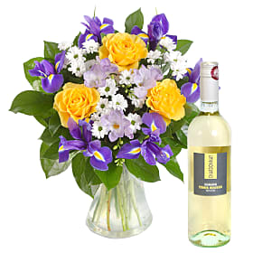 Flower bouquet Spring Chicken with White Wine