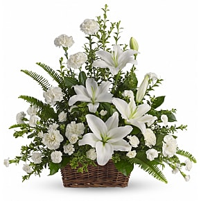 Flower bouquet Peaceful White Lilies
