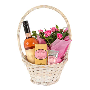 Gift delivery Gift Basket with Rose Petal Hand Cr...