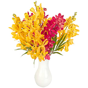 Flower bouquet Red and Yellow Mokara Orchids