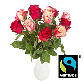 Flower bouquet Fairtrade Romantic Roses