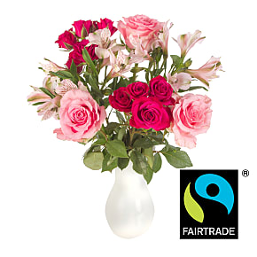 Flower bouquet Fairtrade Pink Mix