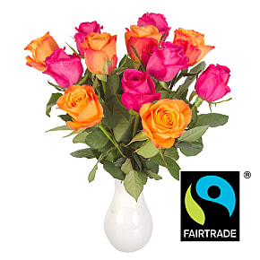 Flower bouquet Fairtrade Bright Rose Mix