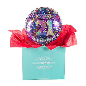 Gift delivery 21st Birthday Balloon Gift