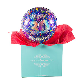 Gift delivery 30th Birthday Balloon Gift