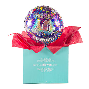 Gift Delivery 40th Birthday Balloon