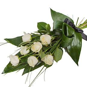 Flower bouquet Elegant White Rose Sheaf