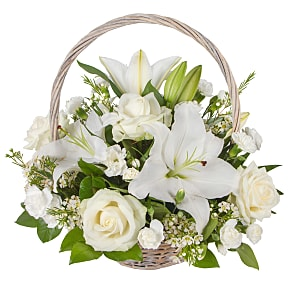 Flower bouquet White Lily Basket