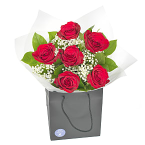 Flower bouquet Six Red Roses