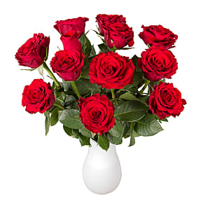 Flower bouquet Dozen Red Roses in Letterbox