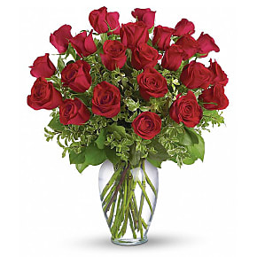Flower bouquet Two Dozen Long Stemmed Red Roses
