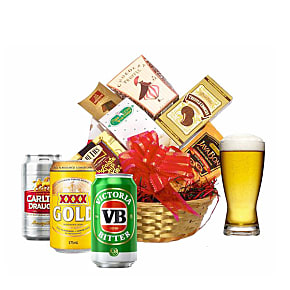 Flower bouquet Beer Sampler Basket