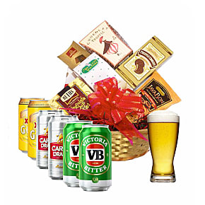 Flower bouquet Beer Lovers Basket