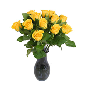 Flower bouquet A Dozen Yellow Roses Giftwrap