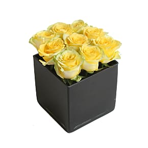 Flower bouquet Yellow Roses Cube