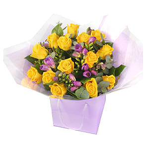 Flower bouquet Roses and freesias