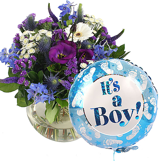 Ocean Whisper with Its a Boy Balloon