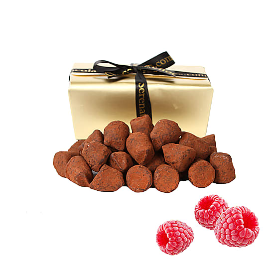 Raspberry French Dusted Truffles