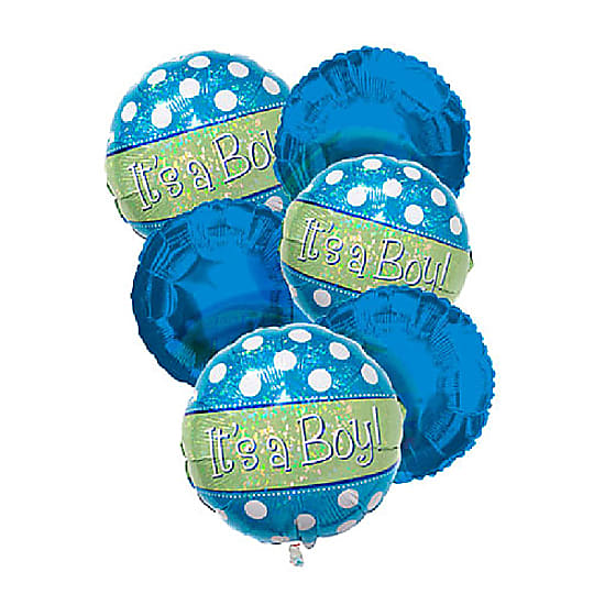 """It's a Boy"" Balloon Bouquet (6)"