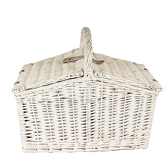 Luxury White Picnic Basket
