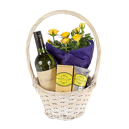 Gift Basket with Ginger and Lime Hand Cream
