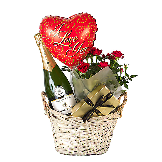 Champagne Gift Basket I Love You