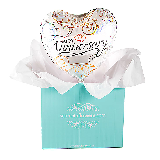Happy Anniversary Filigree Balloon Gift
