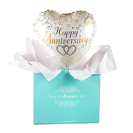 Happy Anniversary Hearts Balloon Gift