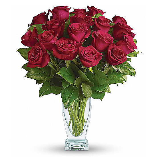 Eighteen Long Stemmed Red Roses