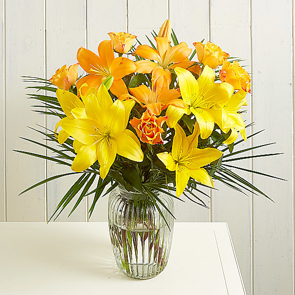 Aztec Sun Bouquet of Yellow Lilies