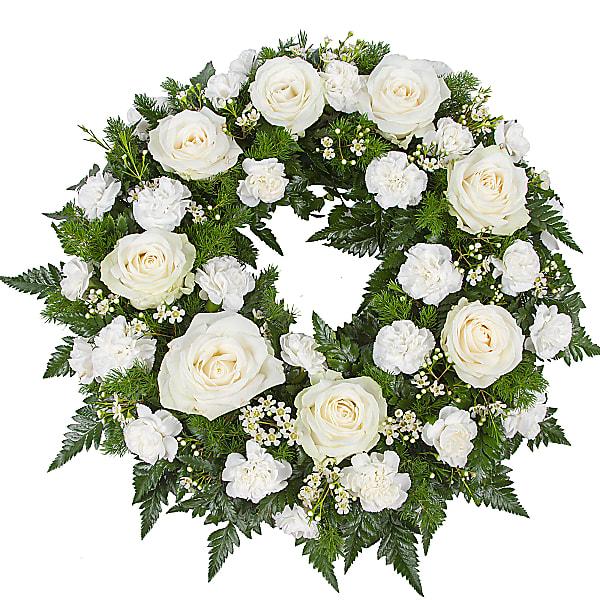 Sympathy Wreath White