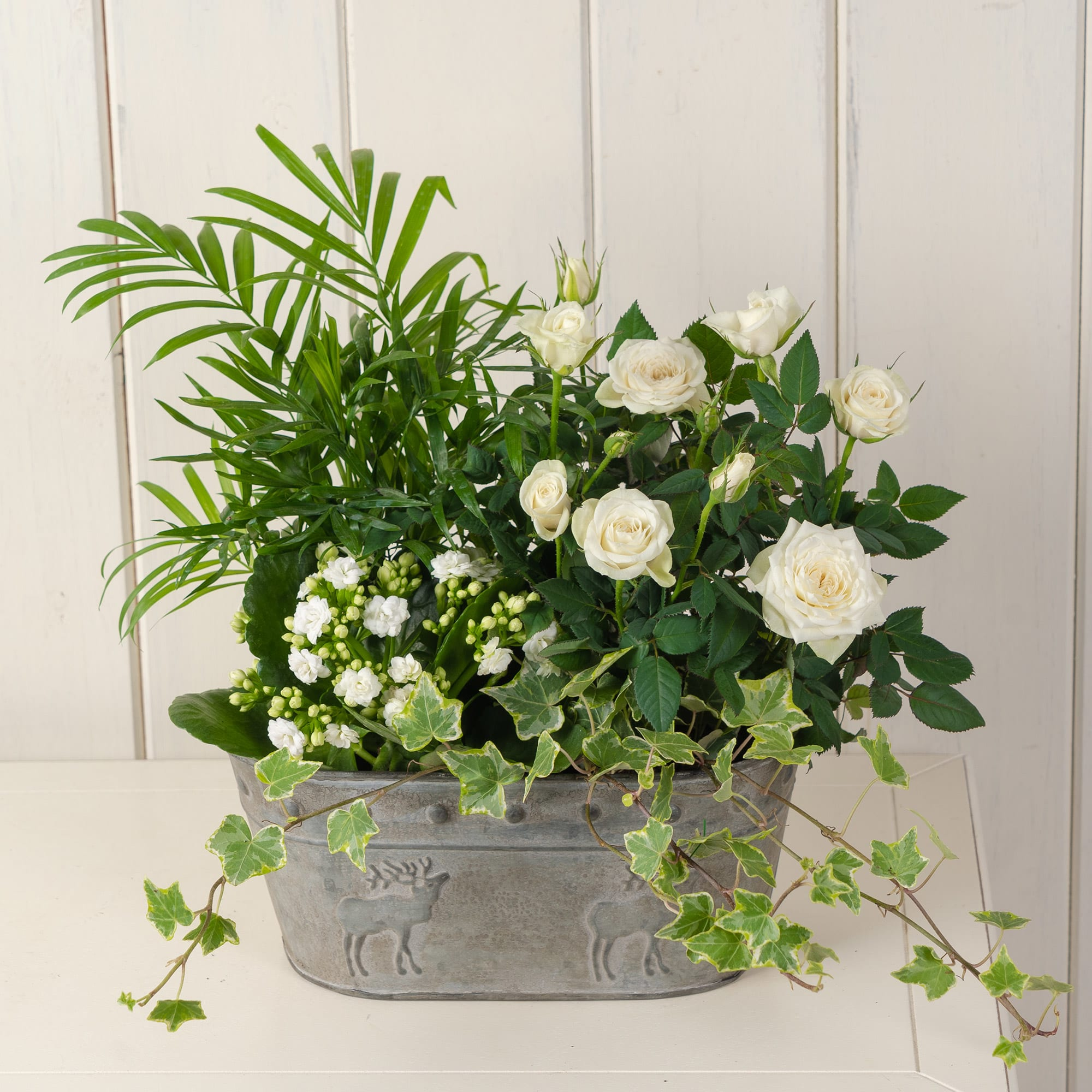 White Garden Basket