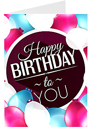 Greeting card Happy Birthday To You Card