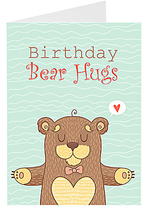 Greeting card Birthday Bear Hugs